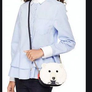 kate spade cold comforts polar bear crossbody bag